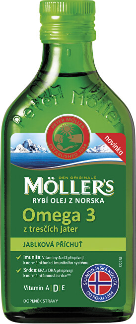 Zobrazit detail výrobku Möller´s Möller´s Omega 3 Jablko 250 ml
