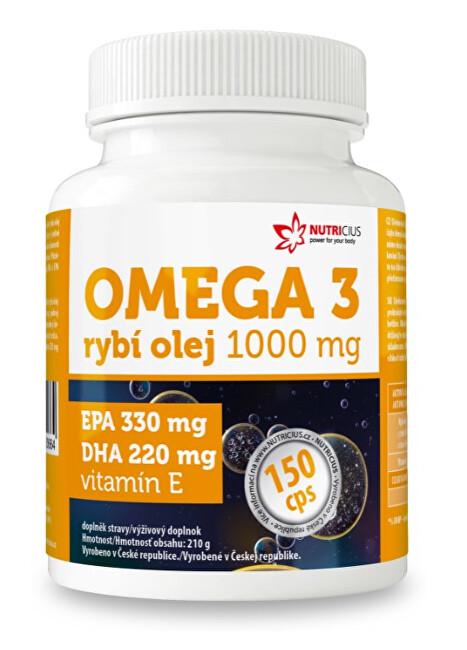 Zobrazit detail výrobku Nutricius Omega 3 Rybí olej 1000 mg EPA 330 mg / DHA 220 mg 150 kapslí