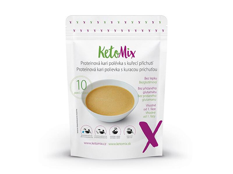 Zobrazit detail výrobku KetoMix Proteinová kari polévka s kuřecí příchutí 10 porcí 250 g