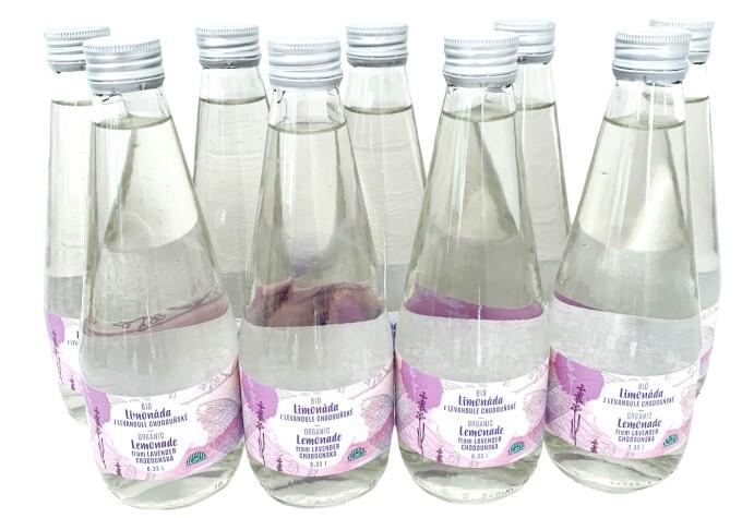 Zobrazit detail výrobku BIO Levandule Chodouňská Rodinné balení BIO levandulových limonád z Levandule Chodouňské nesycených 0.33l (9ks)