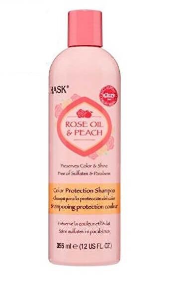 Zobrazit detail výrobku Hask Šampon pro barvené vlasy - růž.olej-broskev 355 ml