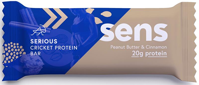 Zobrazit detail výrobku SENS SENS Serious Protein tyčinka s cvrččí moukou - Arašídové máslo & Skořice 60 g - SLEVA - KRÁTKÁ EXPIRACE - 31.12.2020