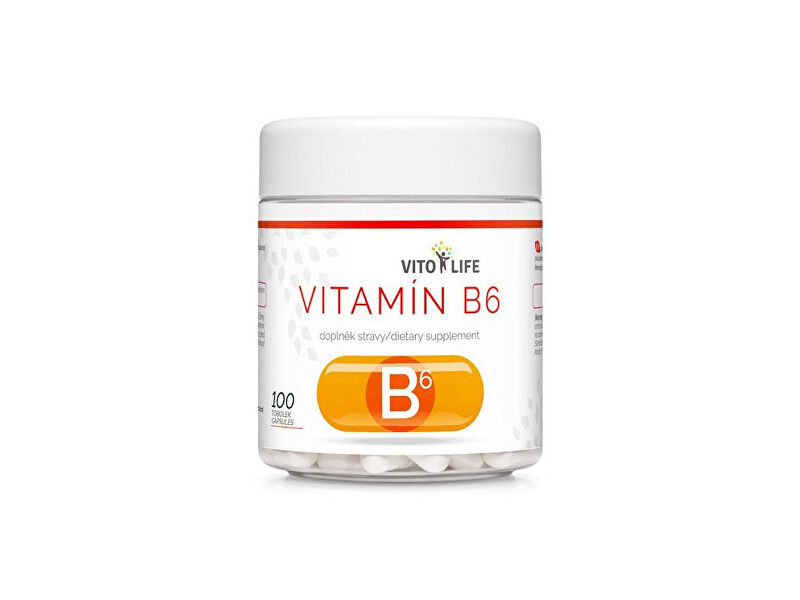 Zobrazit detail výrobku Vito life Vitamín B6 5 mg, 100 tobolek