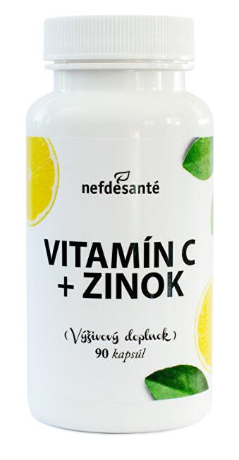 Zobrazit detail výrobku Nef de Santé Vitamín C + Zinek 90 kapslí