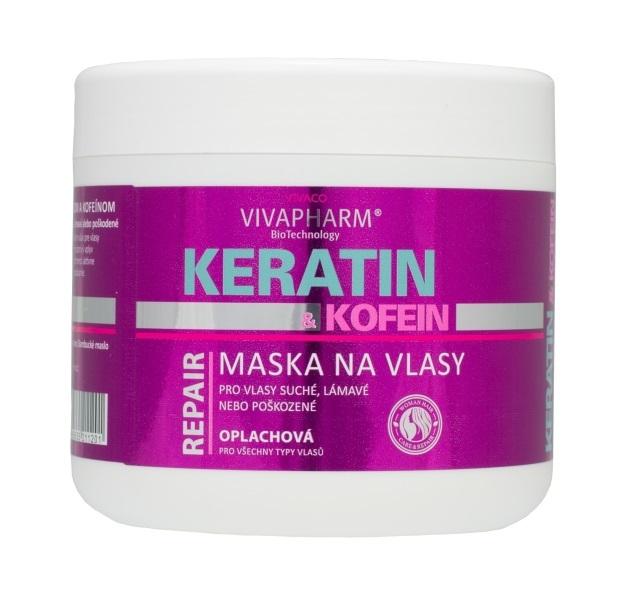 Zobrazit detail výrobku Vivapharm Keratinová regenerační vlasová maska s kofeinem pro ženy 600 ml