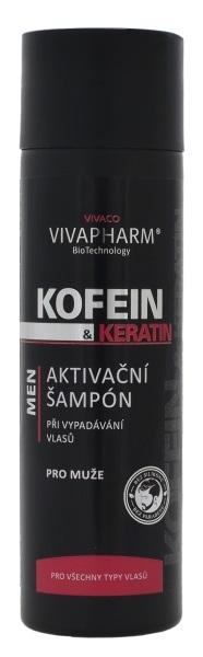 Kofein a keratin Aktivační šampon pro muže 200 ml