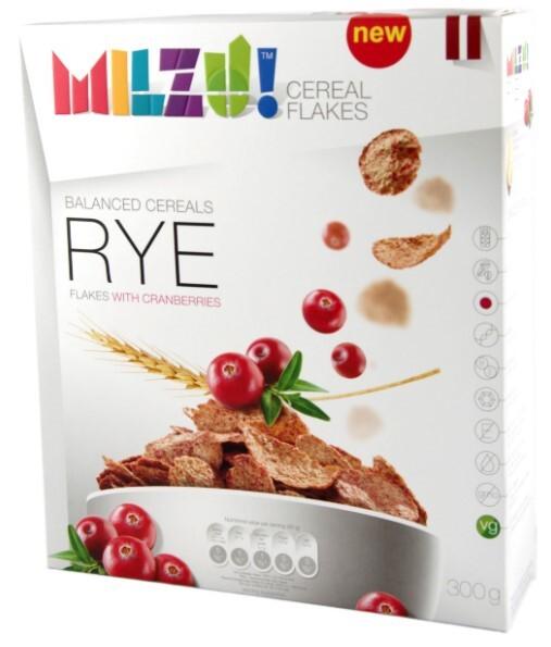 Zobrazit detail výrobku Milzu! Žitné cereálie s brusinkami 300 g