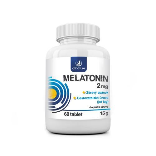 Zobrazit detail výrobku Allnature Melatonin 2 mg 60 tablet