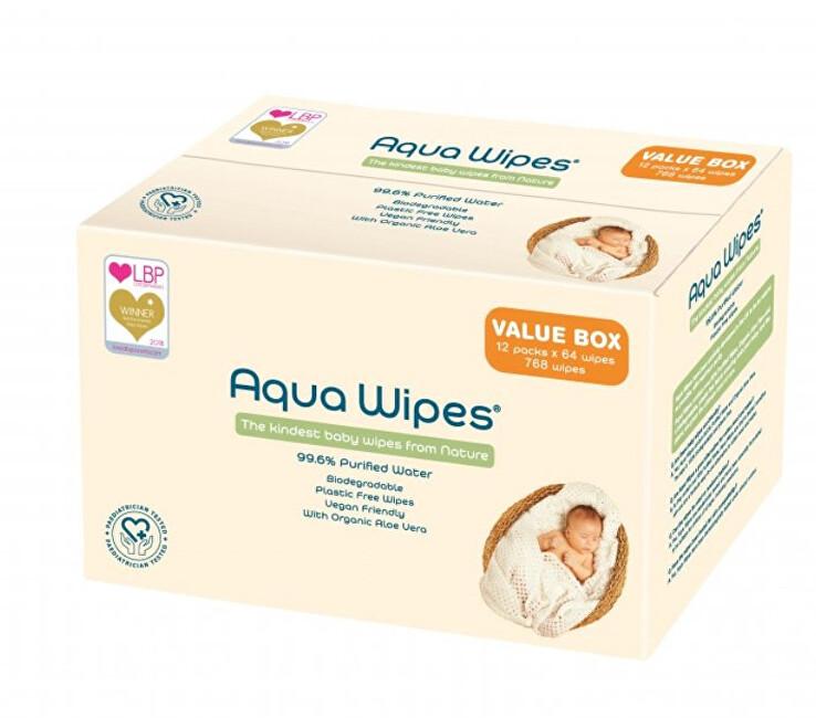 Zobrazit detail výrobku Aqua Wipes EKO dětské vlhčené ubrousky, 12 x 12 ks