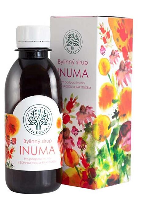 INUMA bylinný sirup na podporu imunity s echinaceou a rakytníkem 200 ml
