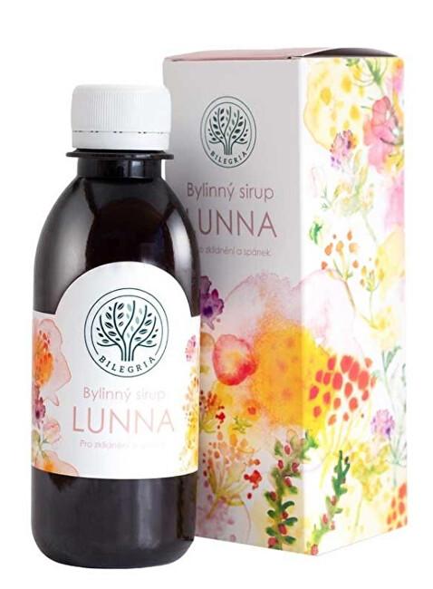 LUNNA bylinný sirup pro klidný spánek s levandulí 200 ml