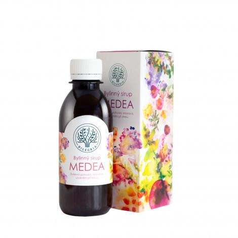 Zobrazit detail výrobku Bilegria MEDEA bylinný sirup pro duševní pohodu s kozlíkem a plicníkem 200 ml