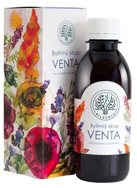 Zobrazit detail výrobku Bilegria VENTA bylinný sirup na podporu odhlenění se šalvějí a slézem 200 ml