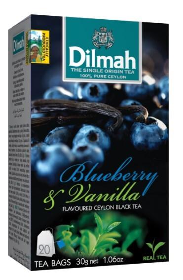 Zobrazit detail výrobku Dilmah Čaj černý, Borůvka, Vanilka 20 ks