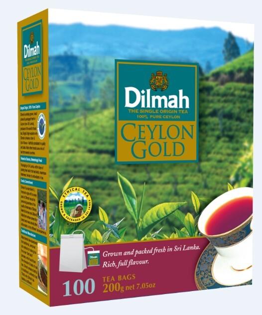 Zobrazit detail výrobku Dilmah Čaj černý Ceylon Gold 100 ks