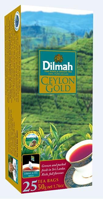 Zobrazit detail výrobku Dilmah Čaj černý Ceylon Gold 25 ks