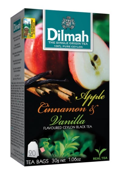 Zobrazit detail výrobku Dilmah Čaj černý Jablko Skořice Vanilka 20 ks