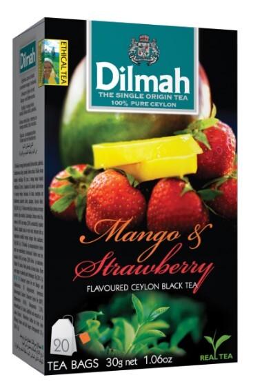 Zobrazit detail výrobku Dilmah Čaj černý, Mango, Jahoda 20 ks