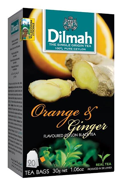 Zobrazit detail výrobku Dilmah Čaj černý, Pomeranč, Zázvor 20 ks