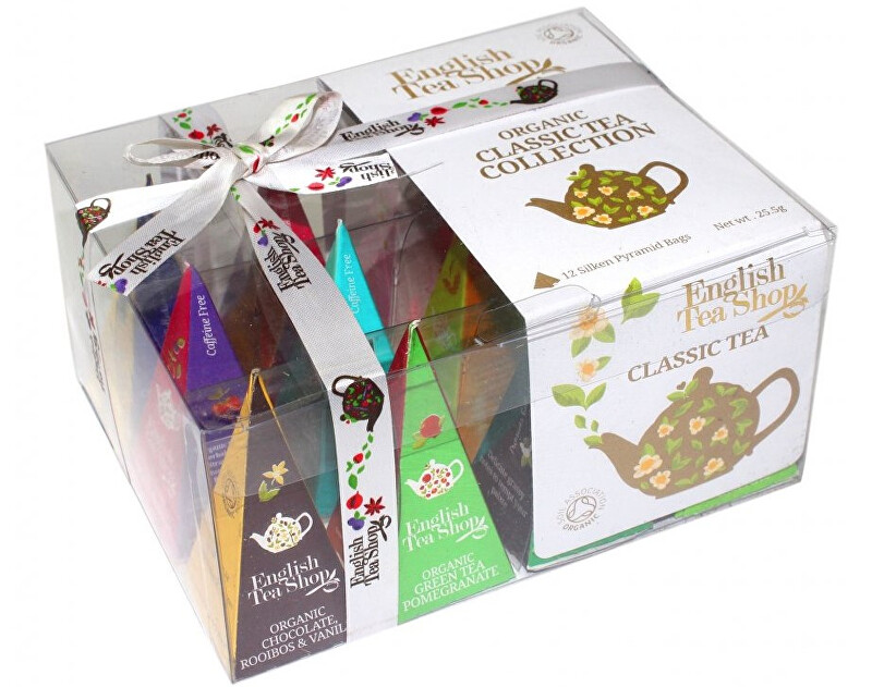 English Tea Shop Dárková kolekce CLASSIC TEA, 12 pyramidek sypaných čajů