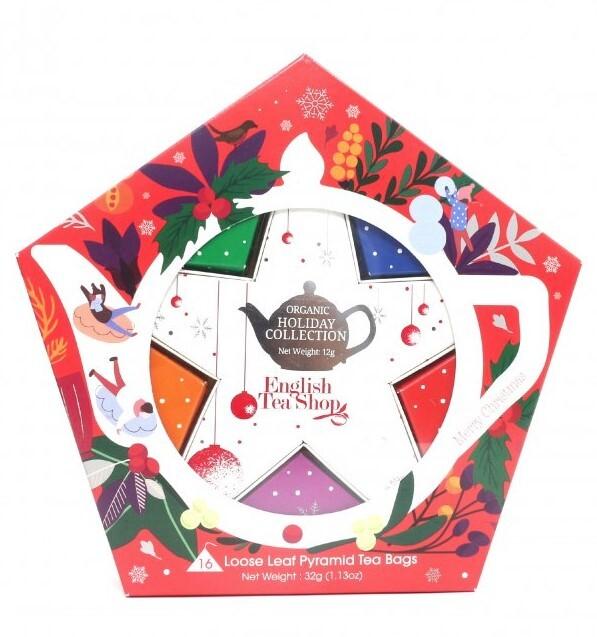 Levně English Tea Shop Dárková kolekce s Červeno stříbrnou hvězdou 16 čajových sáčků