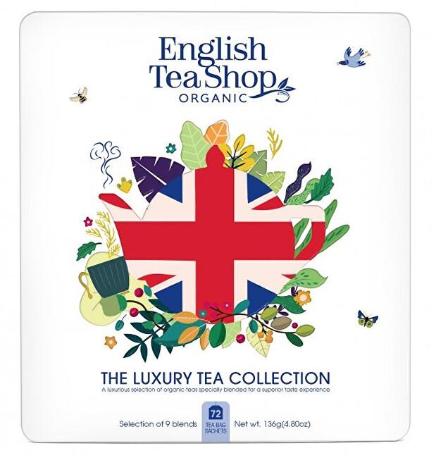 English Tea Shop Dárková kolekce UNION JACK, 72 sáčků plech bílá