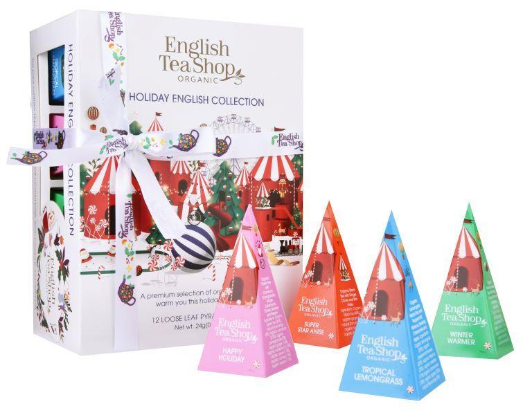 Zobrazit detail výrobku English Tea Shop Vánoční Bílá kolekce 12 pyramidek