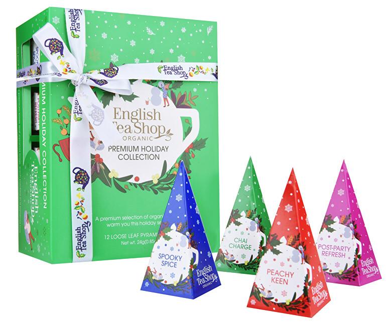 Zobrazit detail výrobku English Tea Shop Vánoční Zelená kolekce 12 pyramidek