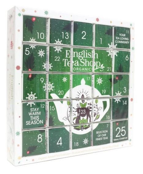 Zelený Adventní kalendář PUZZLE 25 pyramidek