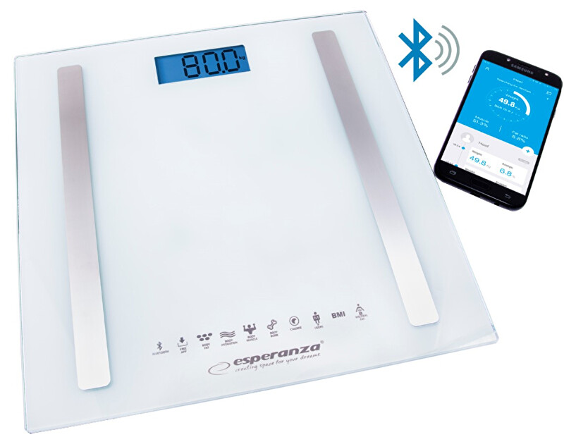 Zobrazit detail výrobku Esperanza Osobní elektronická a diagnostická váha 8v1 s bluetooth B fit Scale - bílá