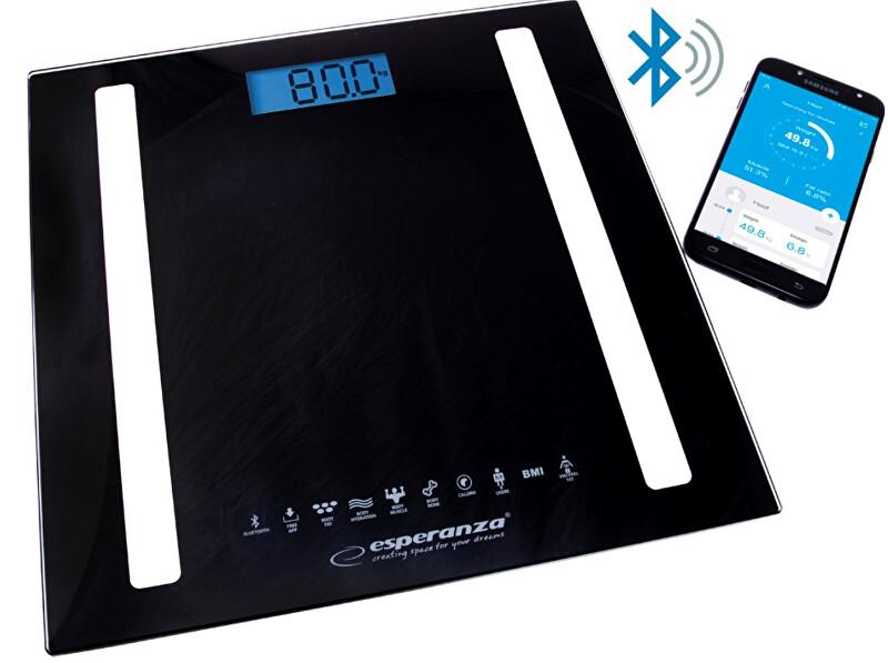 Osobní elektronická a diagnostická váha 8v1 s bluetooth B fit Scale - černá