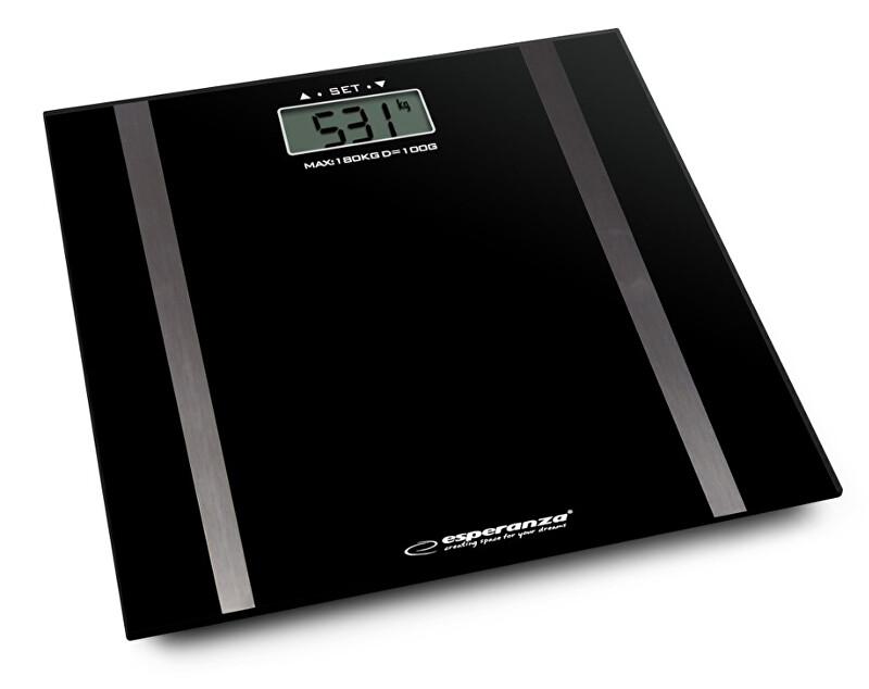 Zobrazit detail výrobku Esperanza Osobní elektronická váha s měřením tuku Samba - černá