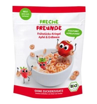 Zobrazit detail výrobku Freche Freunde BIO Cereálie - kroužky - Jablko a jahoda 125 g