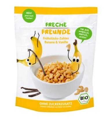 Zobrazit detail výrobku Freche Freunde BIO Cereálie - křupavá čísla - Banán a vanilka 125 g