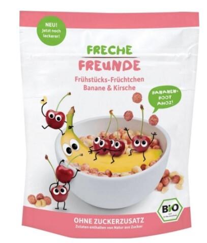 Zobrazit detail výrobku Freche Freunde BIO Cereálie - křupavé kousky - Banán a třešeň 125 g