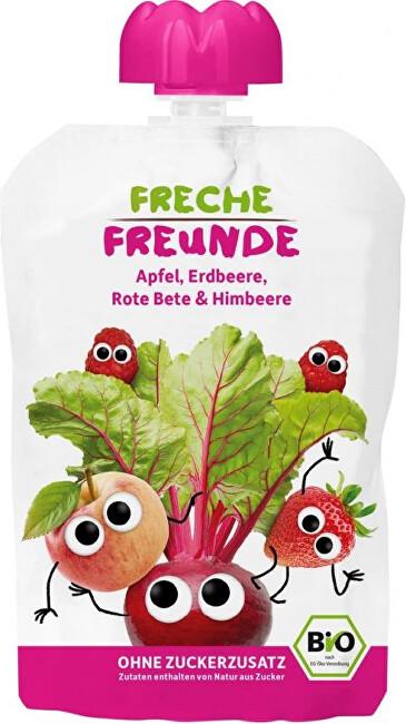 Zobrazit detail výrobku Freche Freunde BIO Kapsička Jablko, červená řepa, jahoda a malina 100 g