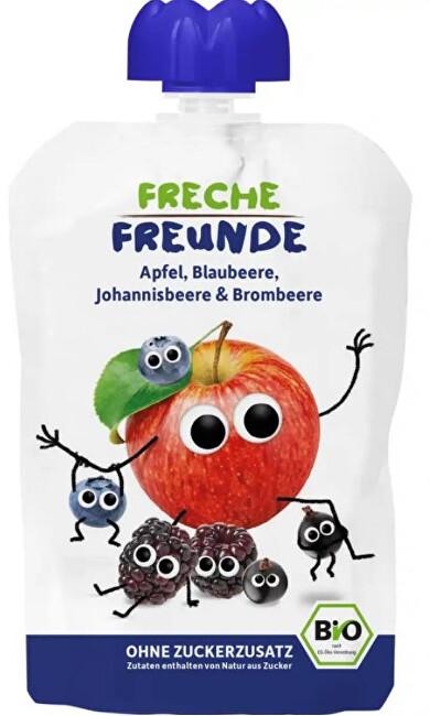Zobrazit detail výrobku Freche Freunde BIO Ovocná kapsička Jablko, borůvka, černý rybíz a ostružina 100 g