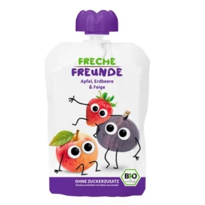 Zobrazit detail výrobku Freche Freunde BIO Ovocná kapsička Jablko, jahoda a fík 100 g