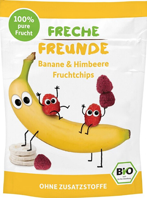 Zobrazit detail výrobku Freche Freunde BIO Ovocné chipsy - 100% Banán a malina 16 g