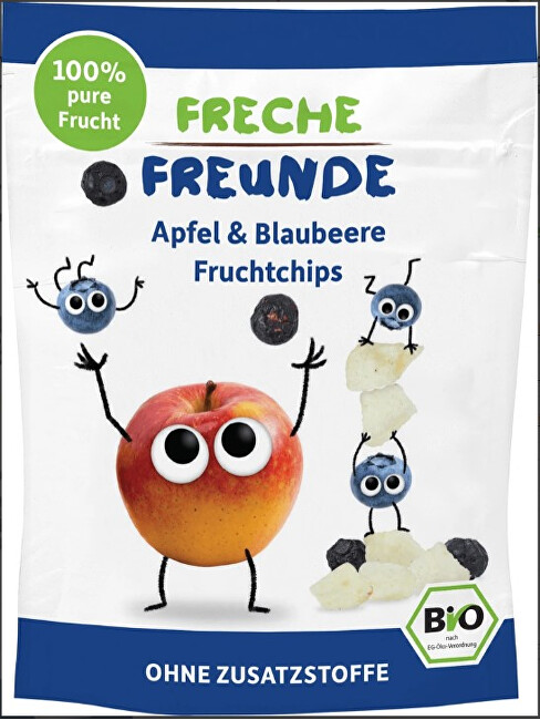 Zobrazit detail výrobku Freche Freunde BIO Ovocné chipsy - 100% Jablko a borůvka 16 g