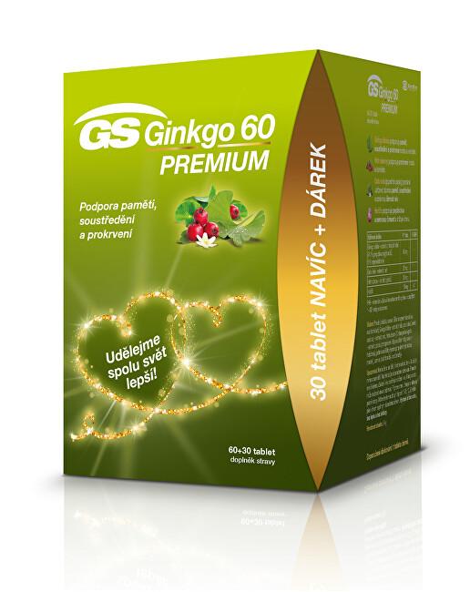 GreenSwan GS Ginkgo 60 Premium tbl. 60 + 30 edície 2020
