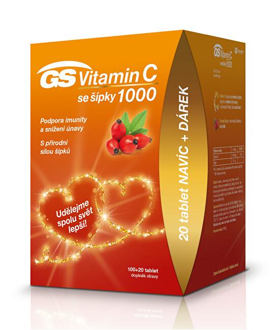 GreenSwan GS Vitamín C 1000 + šípky tbl. 100 + 20 edície 2020