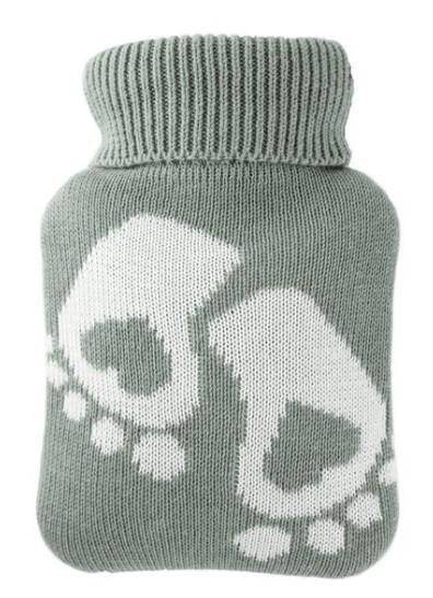 Zobrazit detail výrobku Hugo-Frosch Dětský termofor Classic MINI s pleteným obalem - chodidla, zelený