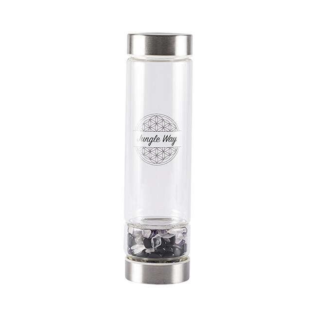 Zobrazit detail výrobku Jungle Way Skleněná láhev s polodrahokamy