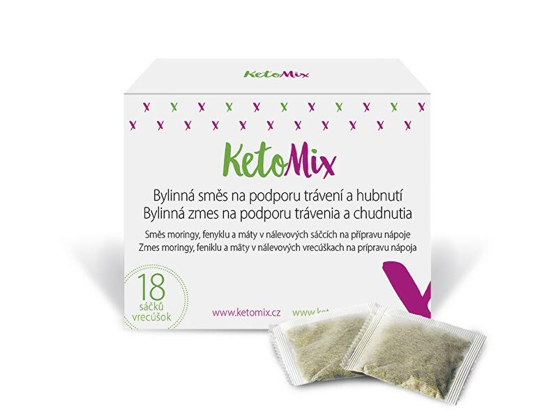 Zobrazit detail výrobku KetoMix Bylinná směs s moringou na podporu trávení a hubnutí18 sáčků