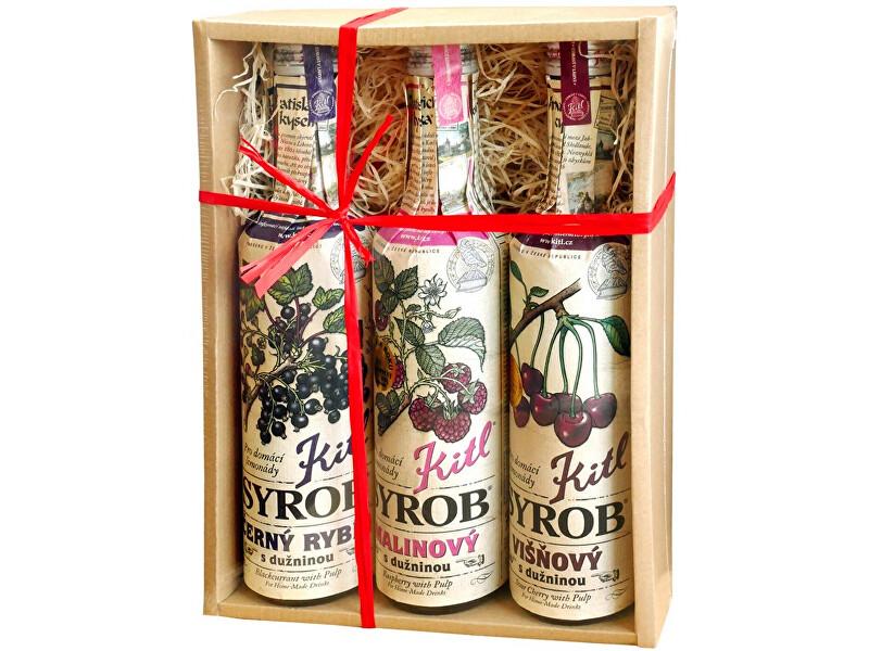 Zobrazit detail výrobku Kitl Syrob Červené ovoce (Malina, Višeň, Č. rybíz) 3x 500ml