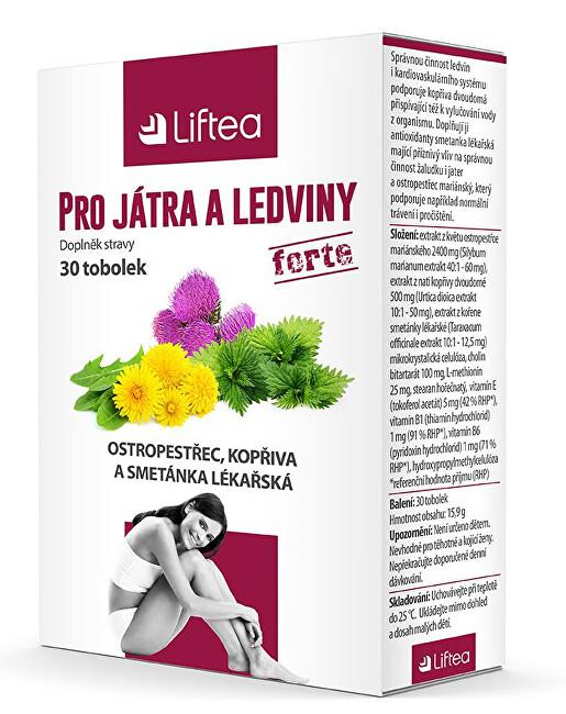 Zobrazit detail výrobku Liftea Pro játra a ledviny 30 tobolek