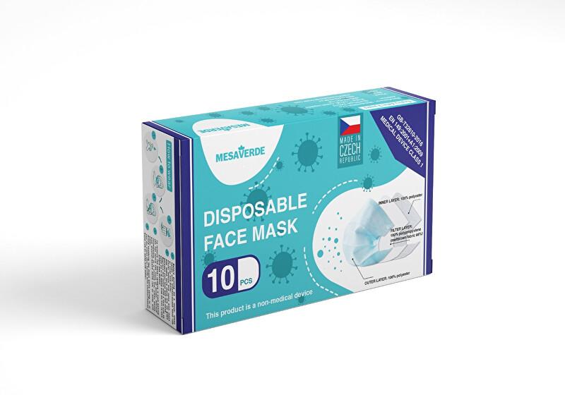 Zobrazit detail výrobku Mesaverde 3vrstvá ochranná obličejová rouška 10 ks