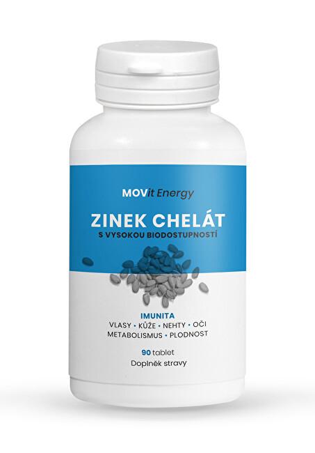 Zobrazit detail výrobku MOVit Energy Zinek Chelát 15 mg, 90 tablet