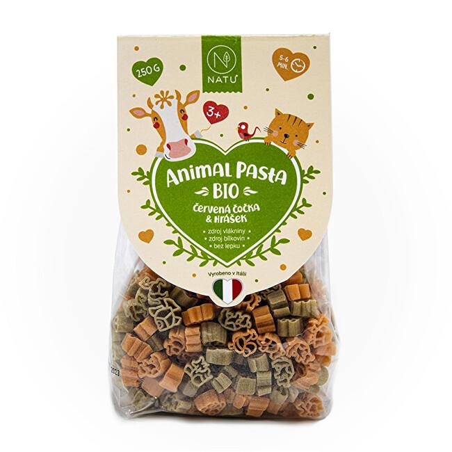 Zobrazit detail výrobku Natu Animal Pasta Těstoviny z červené čočky & hrášku BIO 250 g
